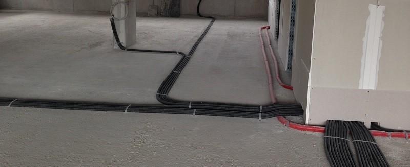Kabelverlegung im Rohbau
