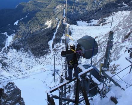 Antennenbau auf der Zugspitze
